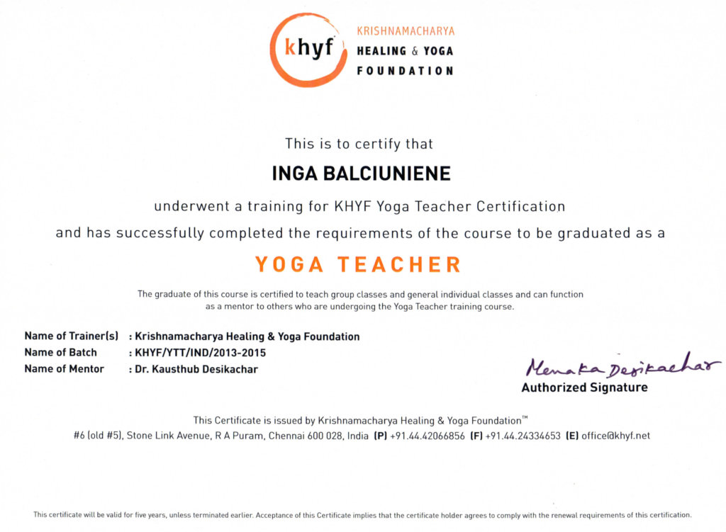 Inga Balciuniene Florida Yoga Academy